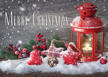 Warm Country Greetings Christmas Greeting Card