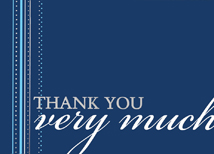 Decorative Ribbon Thank You Cards